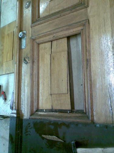 Oven korjaustyö – ennen
